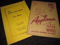 "Mardo, Senor - (2 books) ""Applause"" and ""The Cups & Balls"""