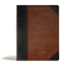 CSB Tony Evans Study Bible, Black/Brown LeatherTouch (Study Notes and Commentary, Articles, Videos, Easy-to-Read Font) by Tony Evans, CSB Bibles by Holman, 9781535971133