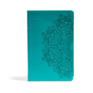 CSB Large Print Personal Size Reference Bible, Teal LeatherTouch by CSB Bibles by Holman, 9781433647697