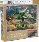 ART WOLFE: RICE TERRACES JIGSAW PUZZLE (1000 PIECES) by WOLFE, ART, 9781682986684