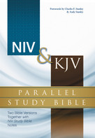NIV, KJV, Parallel Study Bible, Hardcover (Two Bible Versions Together with NIV Study Bible Notes) by  Zondervan, 9780310432739