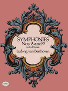 Symphonies Nos. 8 and 9 in Full Score by Ludwig van Beethoven, 9780486260358