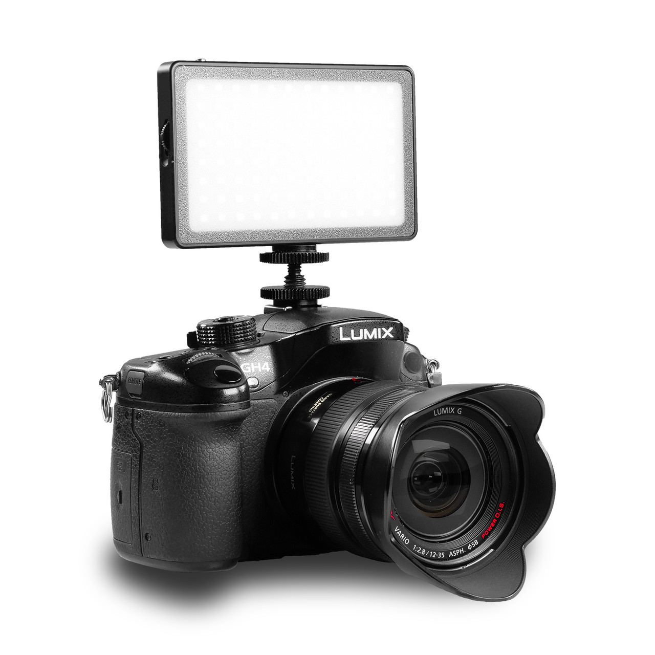 FloBeam Pocket Light 12W BiColor on Mirrorless Camera