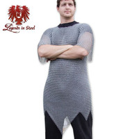 Chainmail Mid-Length Polished Armor Tunic