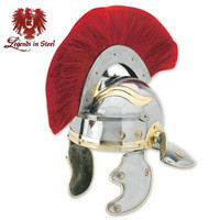 Roman Centurioan Helmet with Red Horse Hair Crest