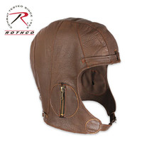 WWII Style Leather Pilot Helmet