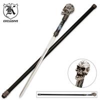 Cane Sword White Skull
