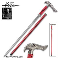 Kit Rae Axios Damascus Sword Cane KR0056D