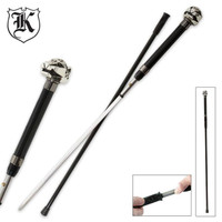 Leaping Leopard Wildlife Walking Sword Cane