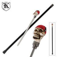 Biker Skull Treasure Sword Cane