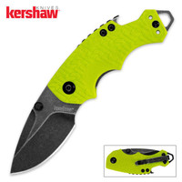 Kershaw BlackWash Shuffle Lime Green Folding Pocket Knife
