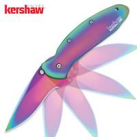 Kershaw Rainbow Scallion Folding Knife