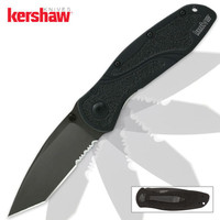 Kershaw Blur Assisted Opening Pocket Knife Black Tanto