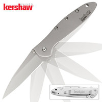 Kershaw Leek Assisted Opening Pocket Knife Silver