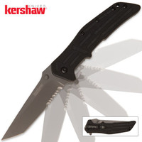 Kershaw RJI Assisted Opening Pocket Knife Serrated