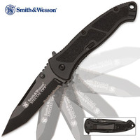 Smith & Wesson Special Ops Assisted Opening Pocket Knife Tanto Serrated