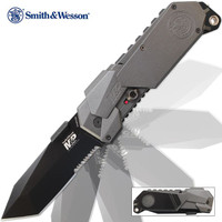 Smith & Wesson M&P 2014 Assisted Opening Pocket Knife Tanto Serrated