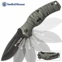 Smith & Wesson Black Ops 4 Assisted Opening Pocket Knife serrated