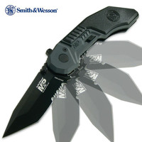 Smith & Wesson M&P Assisted Opening Pocket Knife Tanto Serrated
