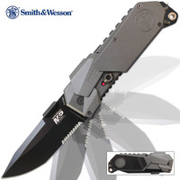 Smith & Wesson M&P 2014 Assisted Opening Pocket Knife Serrated