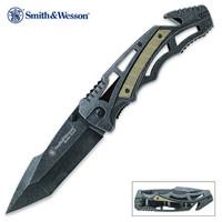 Smith & Wesson Border Guard Skeletonized Tanto Point Folding Pocket Knife
