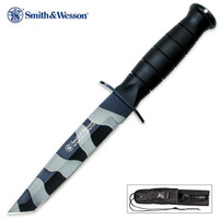 Smith & Wesson Search & Rescue Urban Camo Fixed Blade Tanto Knife