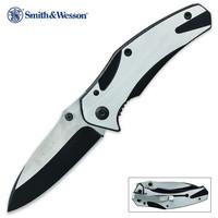 Smith & Wesson Two Tone Frame Lock Pocket Knife