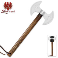 Legends In Steel Double Blade Crusader Tomahawk UC3059