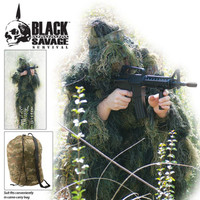 Black Savage Ghillie Suit 5 PC Woodland (1XL/2XL)
