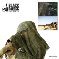 Black Savage Survival Sniper Veil Woodland