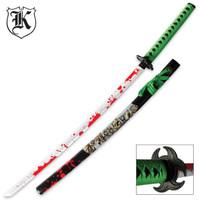 Undead Apocalypse Blood Spattered Katana Sword