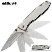 Tac-Force Spring Assist Silver Executive EDC Folding Knife