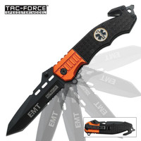 Assisted Opening First Responder Folding Tanto Rescue Knife
