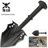 United Cutlery M48 Tactical Shovel Entrenchment Tool with Axe Blade & Sheath UC2979