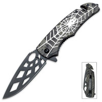 Tac-Force Speed Assisted Opening Rescue Pocket Knife Spider Silve