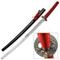 Tiger In The Garden Samurai Sword