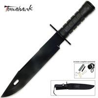 Tomahawk Large Black Survival Knife