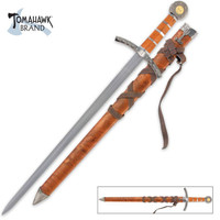 Middle Ages Broad Sword & Matching Scabbard