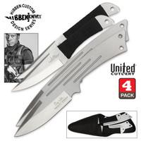 Hibben Legacy Four Piece Throwing Knife Set With Sheath