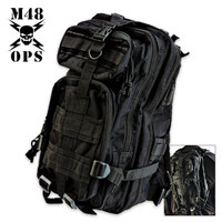 M48 Gear Tactical Knapsack Backpack Black