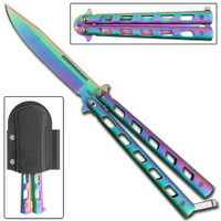 Rainbow Warrior Sunrise Butterfly Knife Balisong