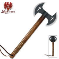 Legends In Steel Double Blade Black Crusader Tomahawk