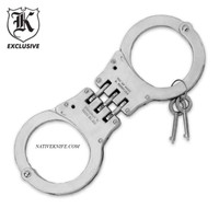 Law Enforcement Grade Hinged Steel Handcuffs