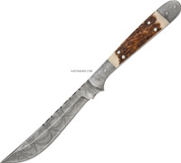 "DAMASCUS FRONTIER HUNTER KNIFE 9"" DM-1024"