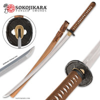 Sokojikara Bambusa Handmade Katana Samurai Sword Hand Forged Clay Tempered T10 High Carbon Steel