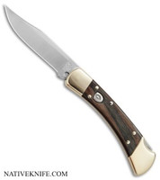 Buck 110 Automatic Lockback Knife Ebony Dymondwood Handle BUC11197