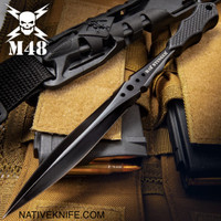 M48 Stinger Urban Dagger Black With Harness Sheath UC2937