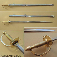 United States Army 1840 NCO Sword with Steel scabbard