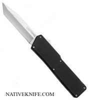 Lightning OTF Tanto Point Plain Edge Automatic Knife