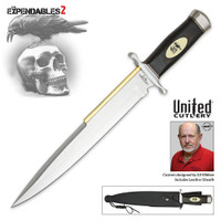 "Gil Hibben ""Expendables 2"" Toothpick Knife And Leather Sheath GH5038"